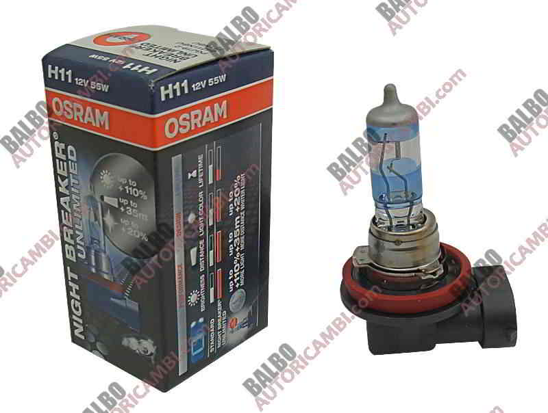 Lampada H11 Osram Night Breaker Unlimited +110%